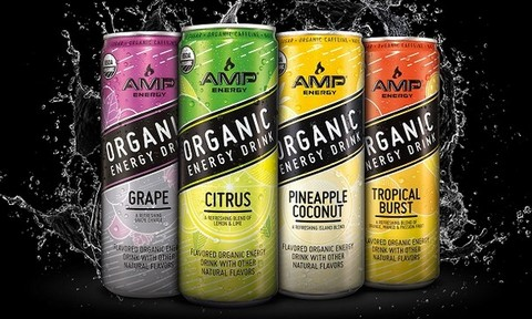 AMP Energy launches organic energy drinks answering consumer call for simpler ingredients