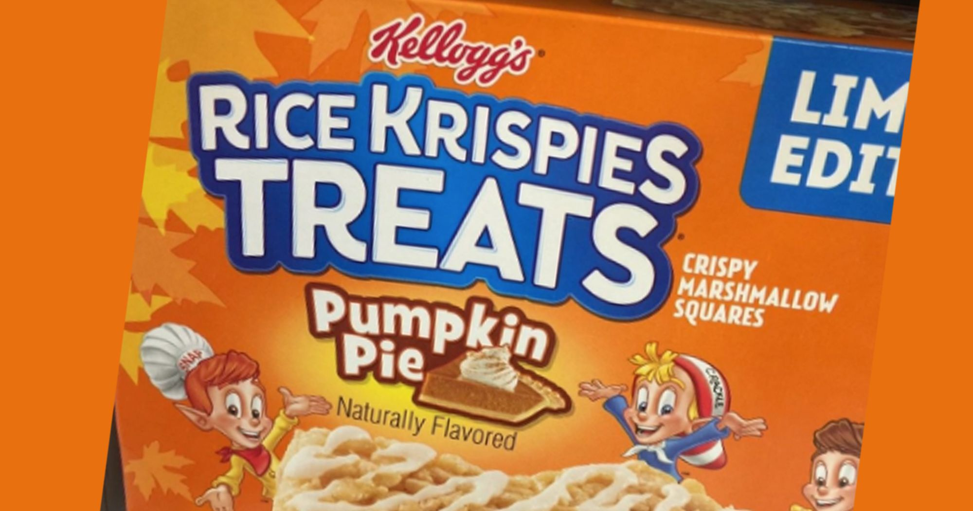 Rice Krispies Treats Pumpkin Pie Limited Edition Flavor