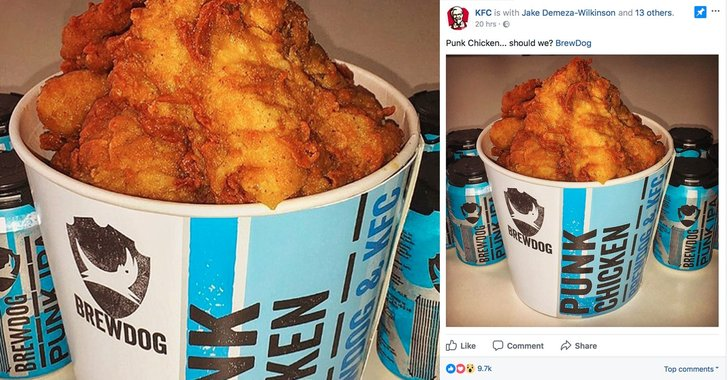 """KFC Teases Fans With Craft Brew """"Punk Chicken"""", and They Go Clucking Wild"""