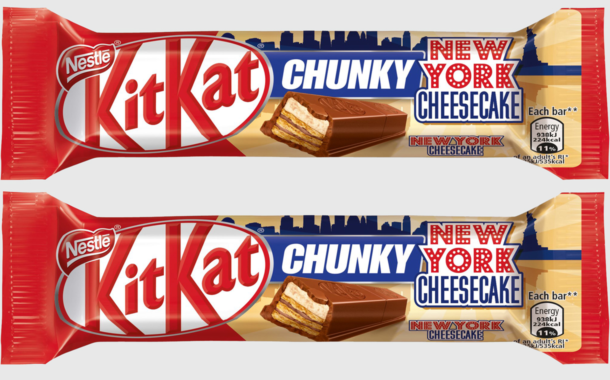 Nestlé introduces New York cheesecake KitKat Chunky