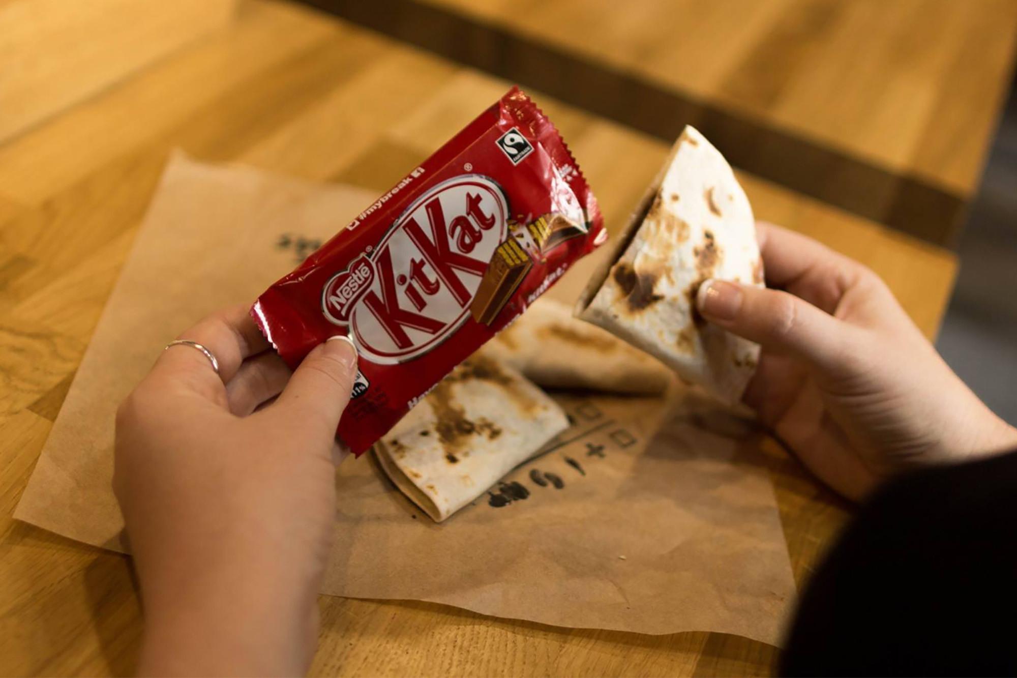 Taco Bell has a Kit Kat Quesadilla