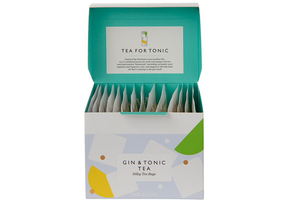 Fortnum & Mason has launched gin and tonic tea