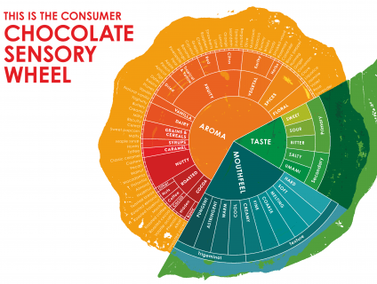 New sensory language for chocolate – Chocolate tasting requires the five senses – sight, touch, hearing, smell and taste