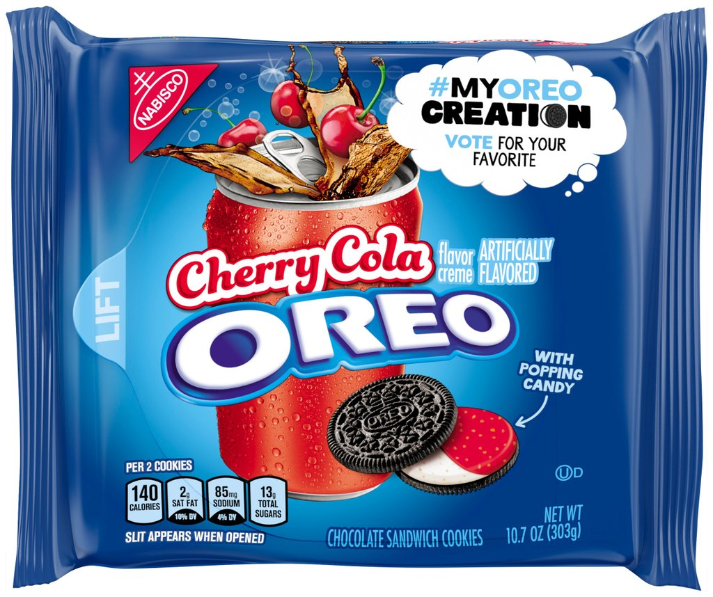 New Oreo limited-edition flavors being rolled out are cherry cola, kettle corn and piña colada