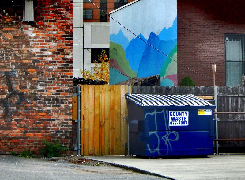 Anything has the capacity to produce a smell that can make you wistful. Even a dumpster.