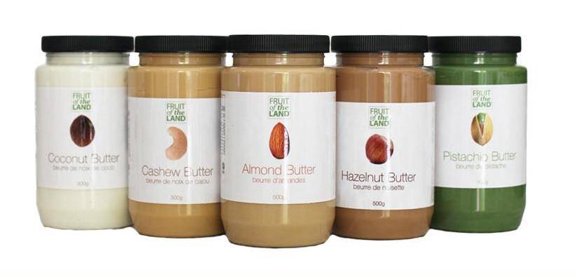 Fruit of the Land nut butters.
