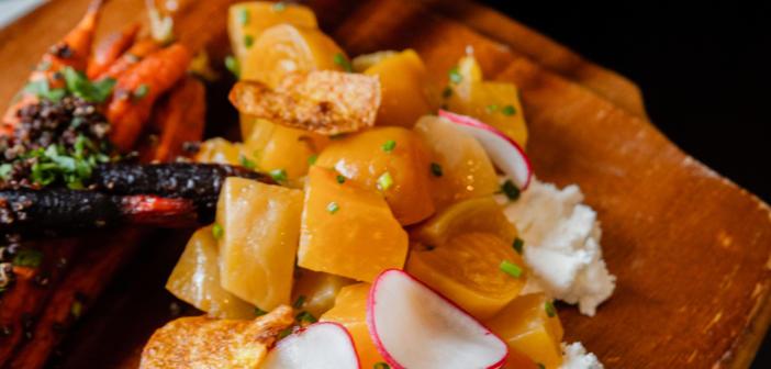 Roasted vegetable platter at Fisk & Co.