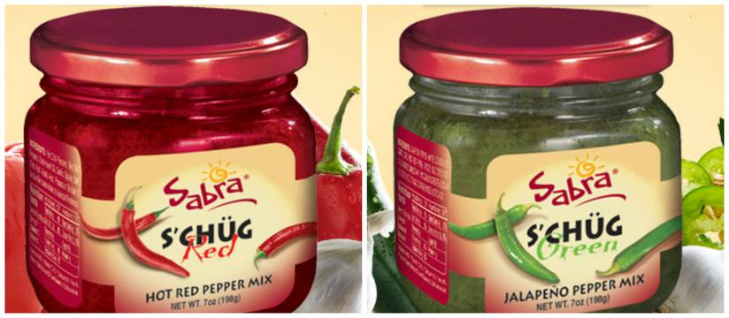 Sabra red and green schug.