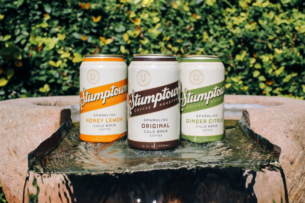 Stumptown sparkling cold brew coffee