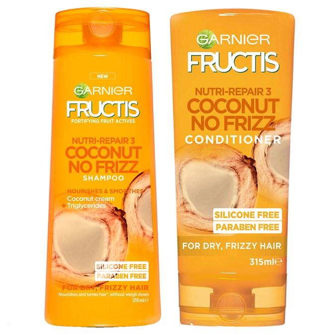 Garnier Fructis Coconut No Frizz Shampoo and Conditioner