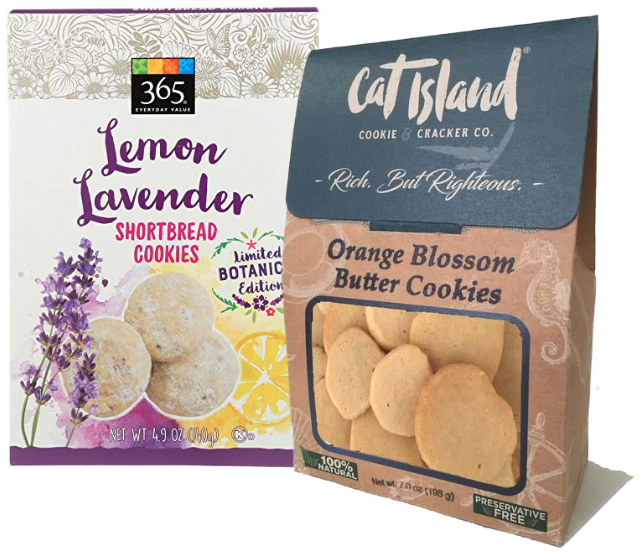 Botanical flavored cookies