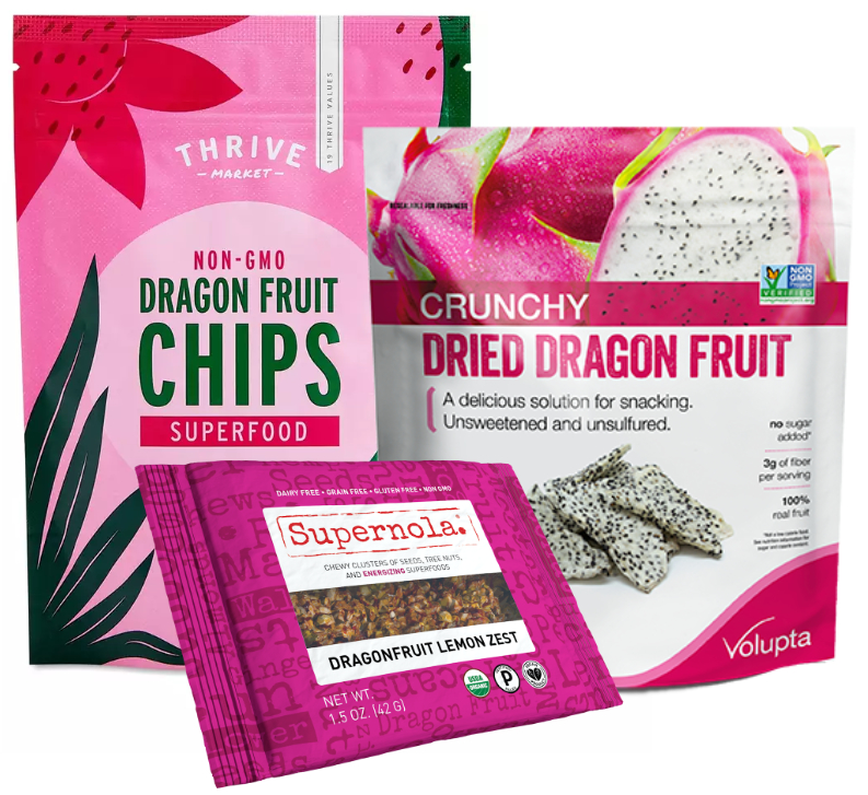Dragon fruit snacks