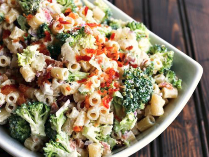 Bacon broccoli penne salad