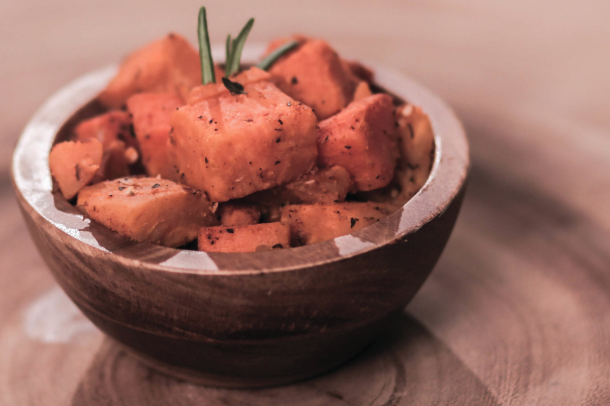 Roasted potatoes with duck fat