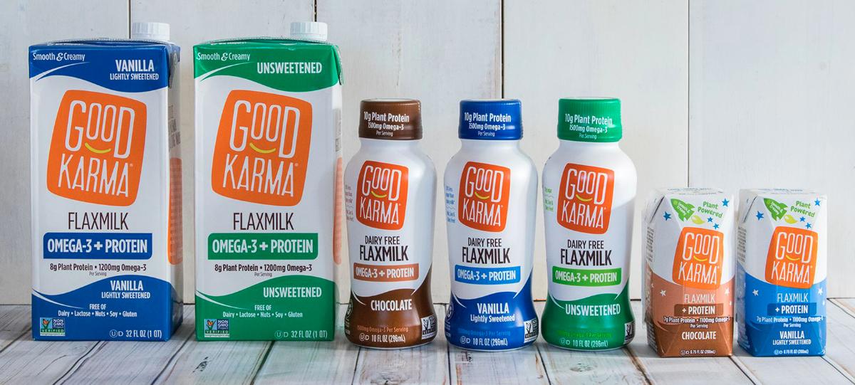 Good Karma Foods flaxmilk product lineup