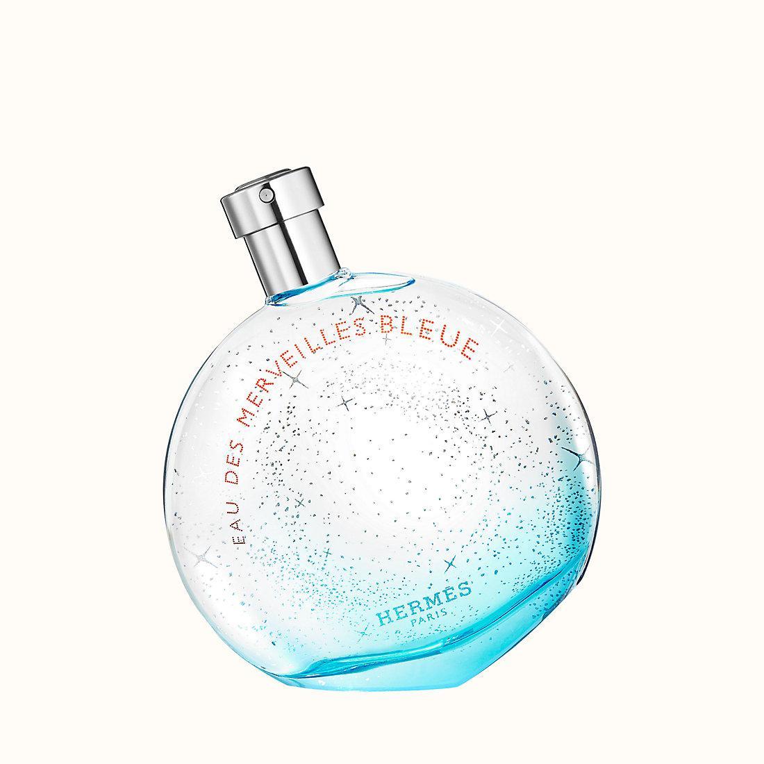 Eau des merveilles bleue, Hermes, at Sephora. Courtesy Hermes