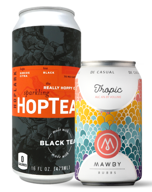 HopTea and Mawby Bubbs alcoholic RTD tea beverages