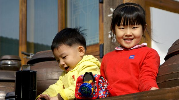 Children are taught how to make gochujang to help preserve its heritage (Credit: Credit: Michele Burgess/Alamy)