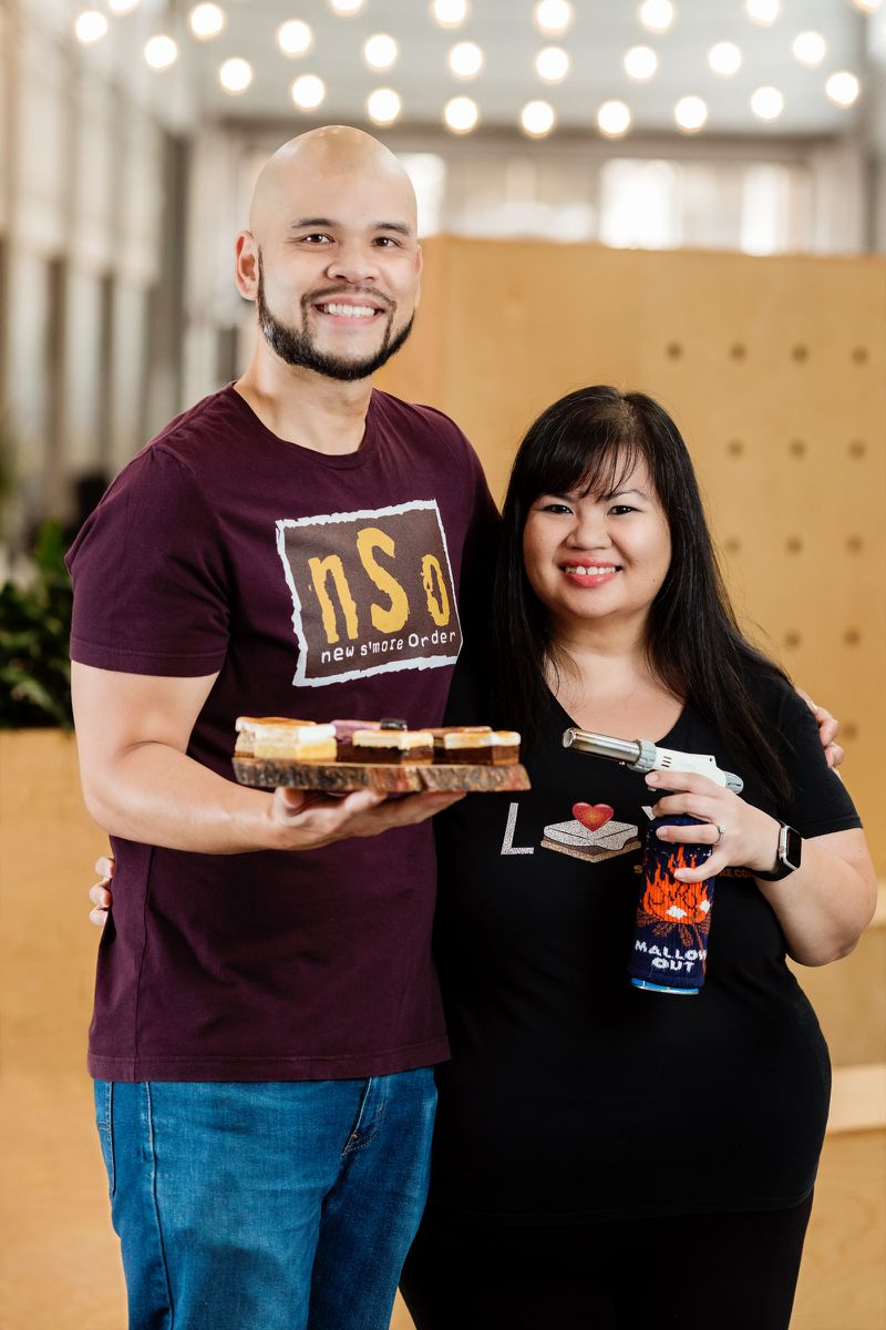 Owner/chef Duane Dinio and his wife, Kristine, who helps with customer service and social media advertising, aim to put a new twist on the classic campfire treats. (Courtesy of DCPG Photography)
