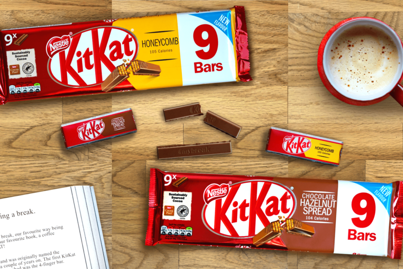 KitKat range expands with new Honeycomb and chocolate hazelnut spread flavours | Confectionery Production