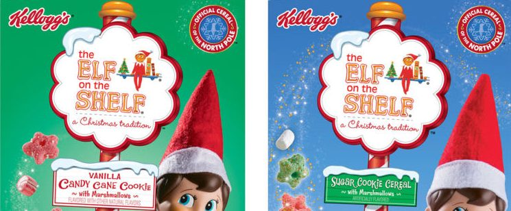 New Kellogg's Elf on the Shelf Vanilla Candy Cane Cookie Cereal is here | Foodsided