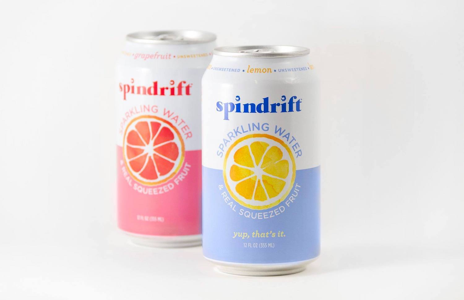 Spindrift Sparkling Water product shot. October 2020