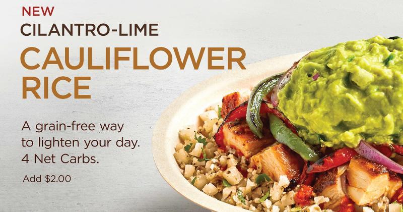 Chipotle to test cauliflower rice   Restaurant Business Online