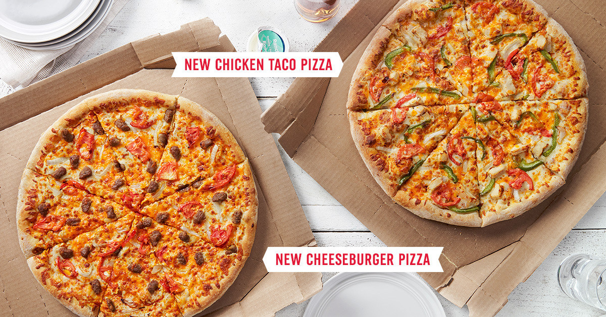 Made for Delivery: Domino's Introduces New Chicken Taco and Cheeseburger Pizzas | Newswire