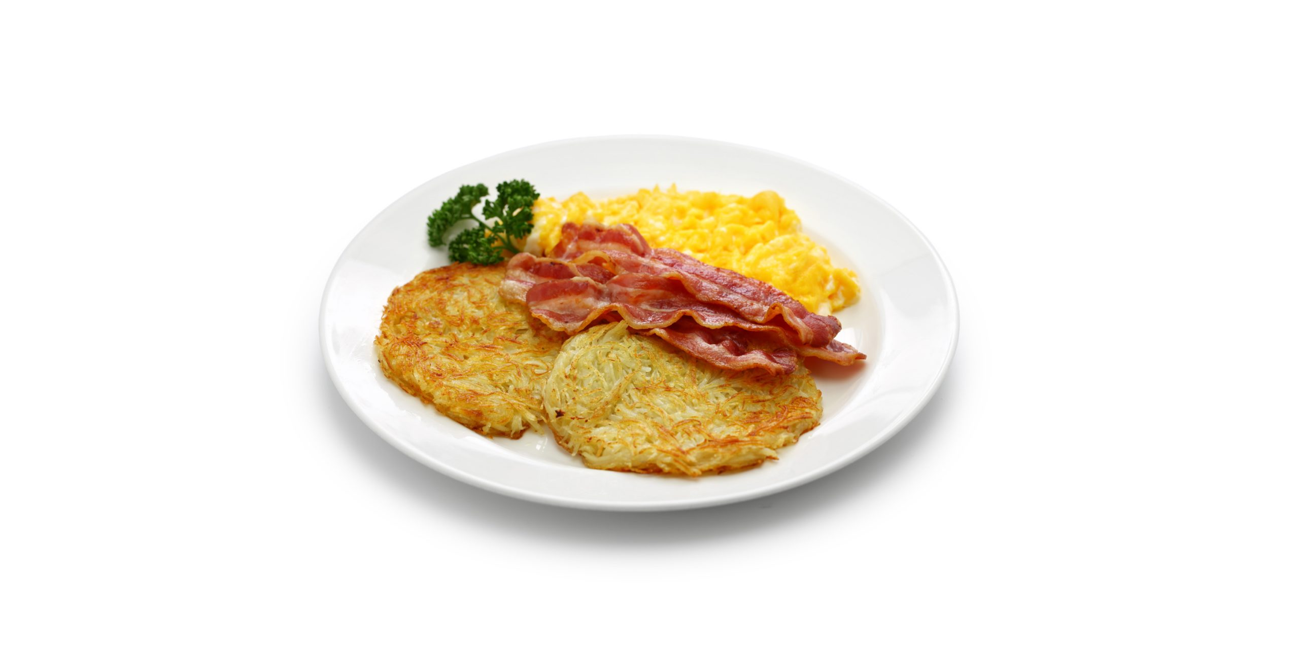Have a weekend breakfast experience with a bacon, egg & hash brown flavour | 100% natural, kosher & vegan