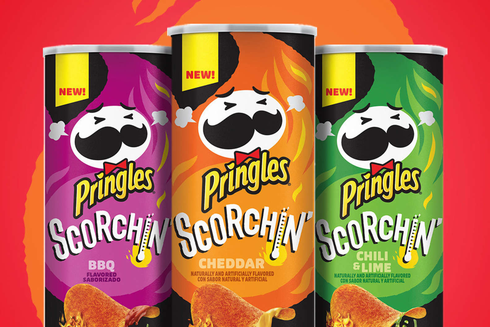Pringles Adds New 'Scorchin' Flavors: Cheddar, BBQ and Chili & Lime – Thrillist