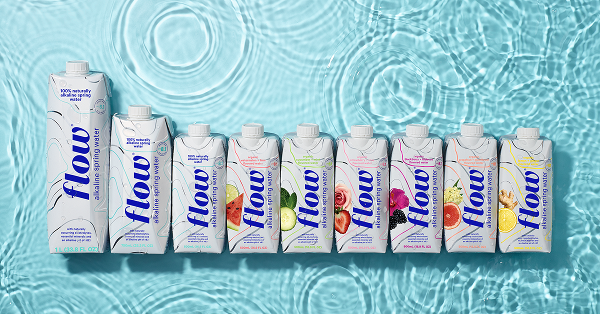 Flow Alkaline Spring Water Innovates Online with New Size and Flavor   BevNET.com