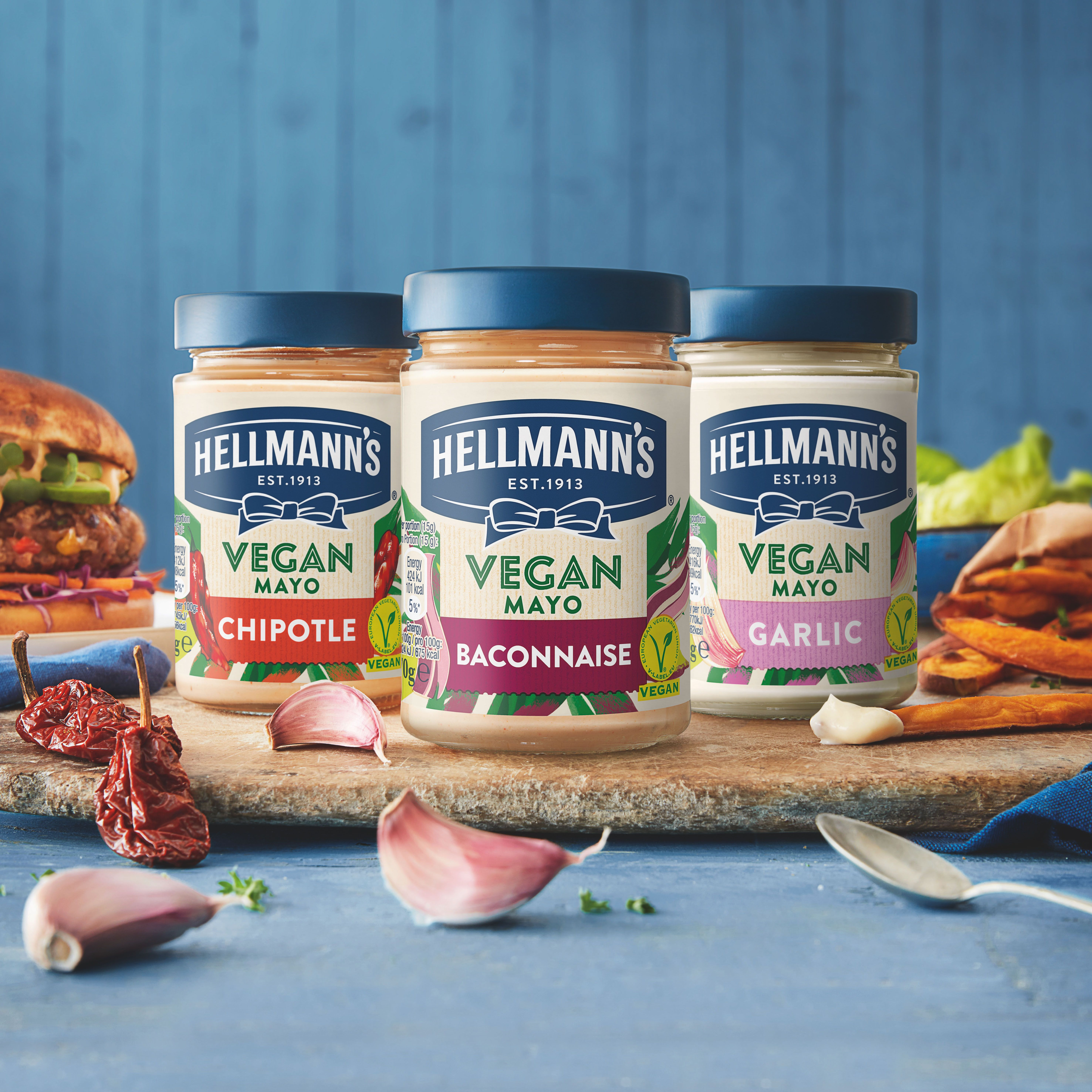 Hellmann's is launching three new Vegan Mayo flavours including Baconnaise and Chipotle | Good Housekeeping