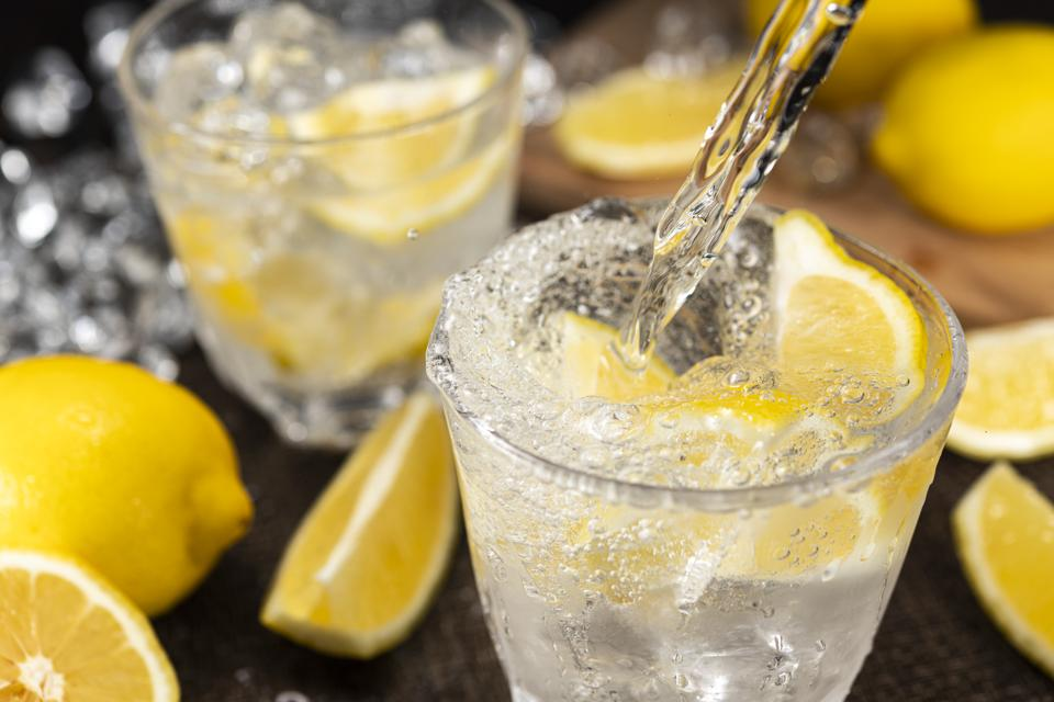 Highball Laced With Lemon juice Flavour.
