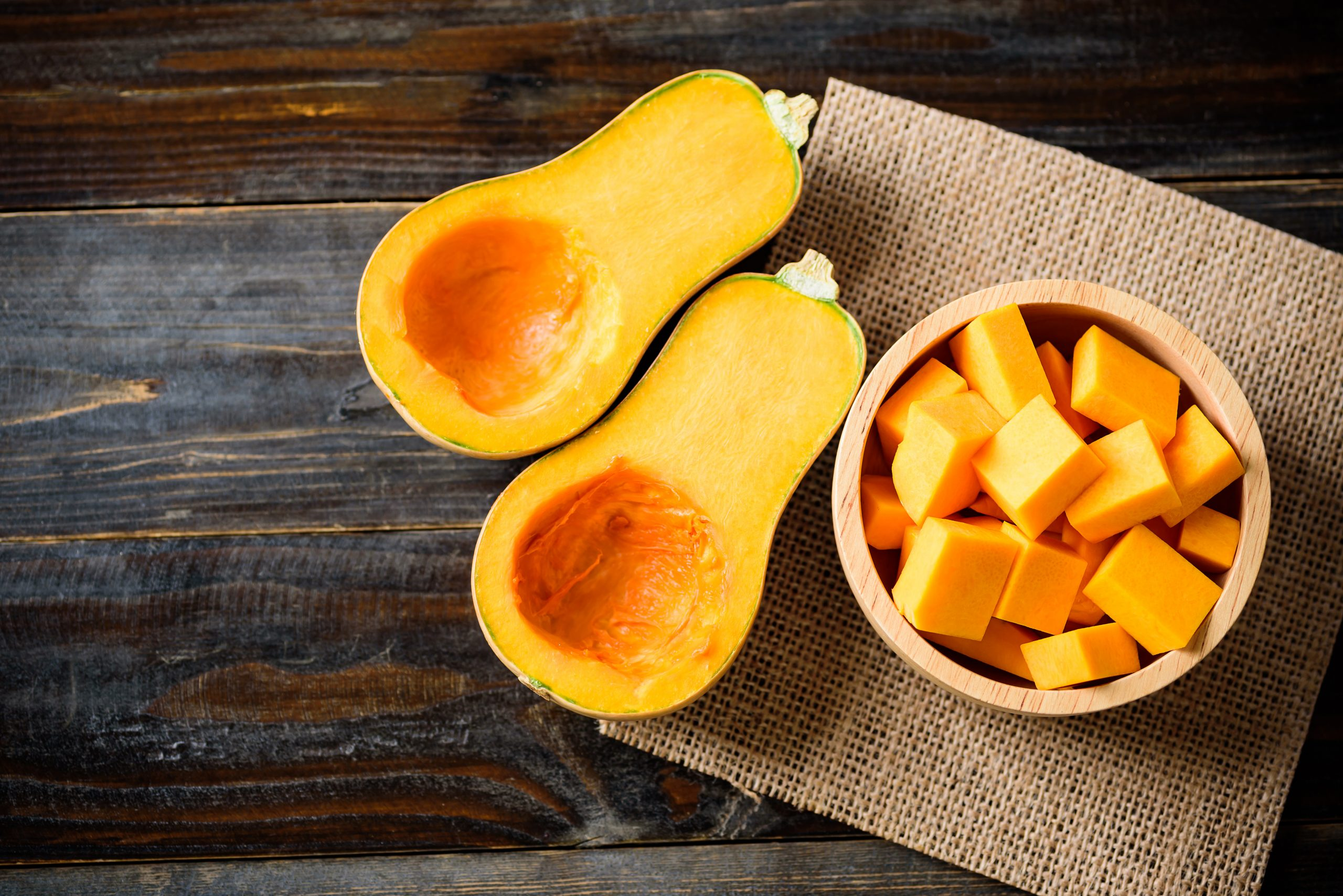 There are many ways to prepare butternut squash. It is high in health-supporting nutrients such as vitamin A and potassium, and it's a good source of fibre, vitamin C, calcium and is also low in carbohydrates and calories. - RF Stock