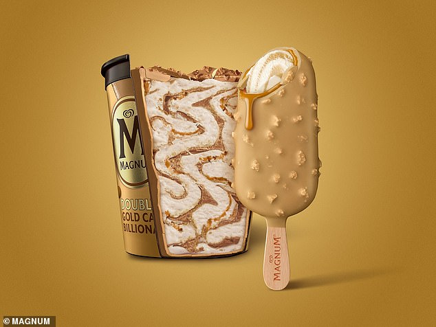 Magnum fans go wild for release of new Double Gold Caramel Billionaire ice-creams | Daily Mail Online
