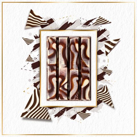 kitkat zebra is a delicious marbled mix of white and dark chocolate