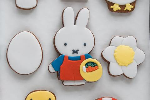 Miffy x Honeywell Biscuit Co. iced biscuits on white background