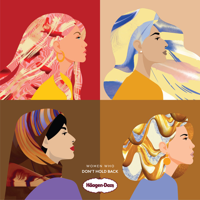 Häagen-Dazs Renames Its Iconic Flavours to Celebrate 'Women Who Don't Hold Back' | PR Newswire