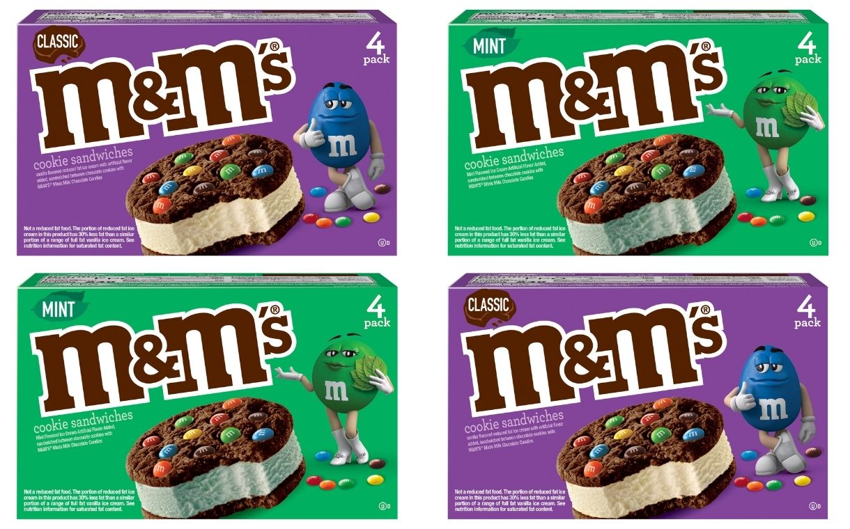 Mars Wrigley unveils new M&M's Ice Cream Cookie Sandwich flavours | FoodBev Media