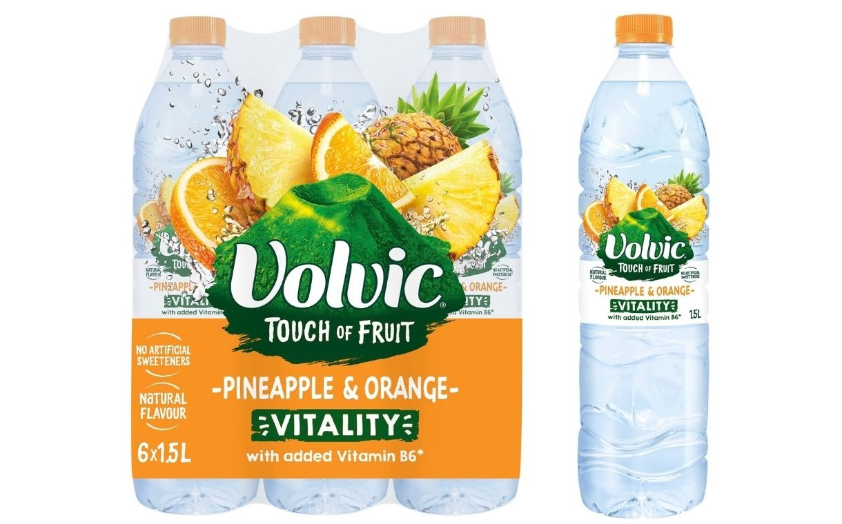 Danone unveils new Volvic Touch of Fruit offering with added vitamin B6 | FoodBev Media
