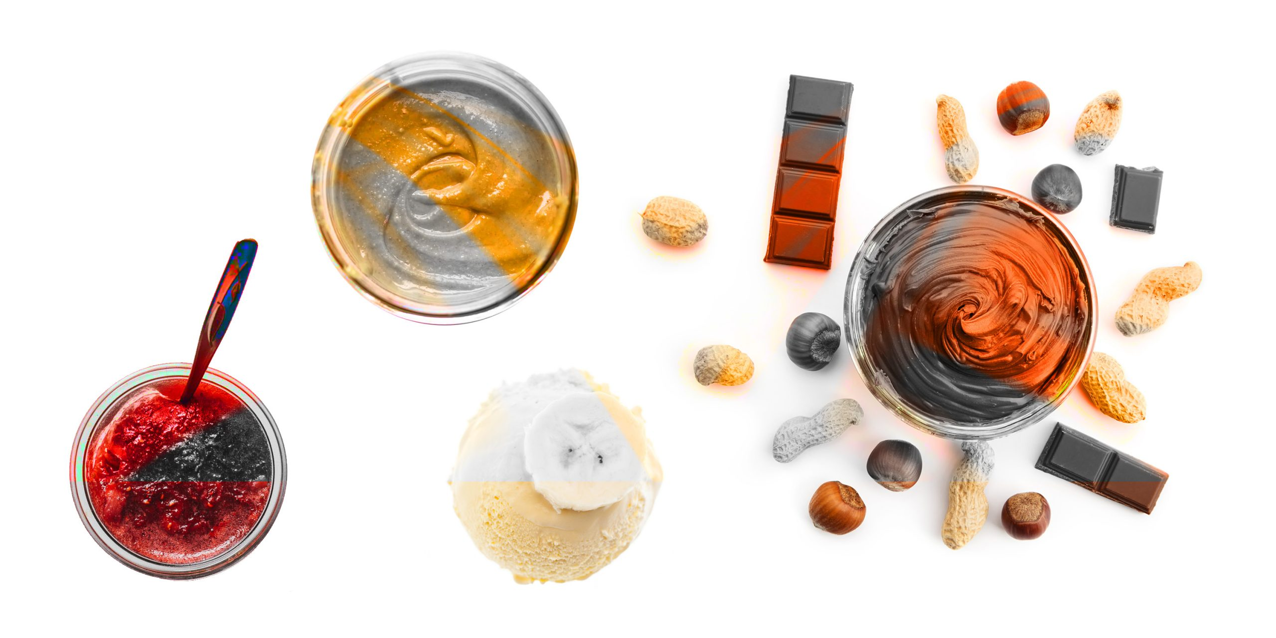 Allergen-free nutty flavour profiles