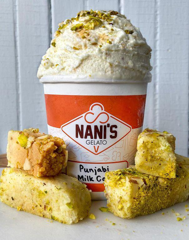 LI-ICECREAMAPR8 Punjabi Milk Cake is one of Nani's most popular Indian flavours. Uploaded by: Howell, Joe