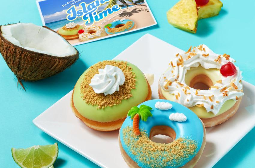 Krispy Kreme embraces Island Time with new doughnut flavors | Foodsided