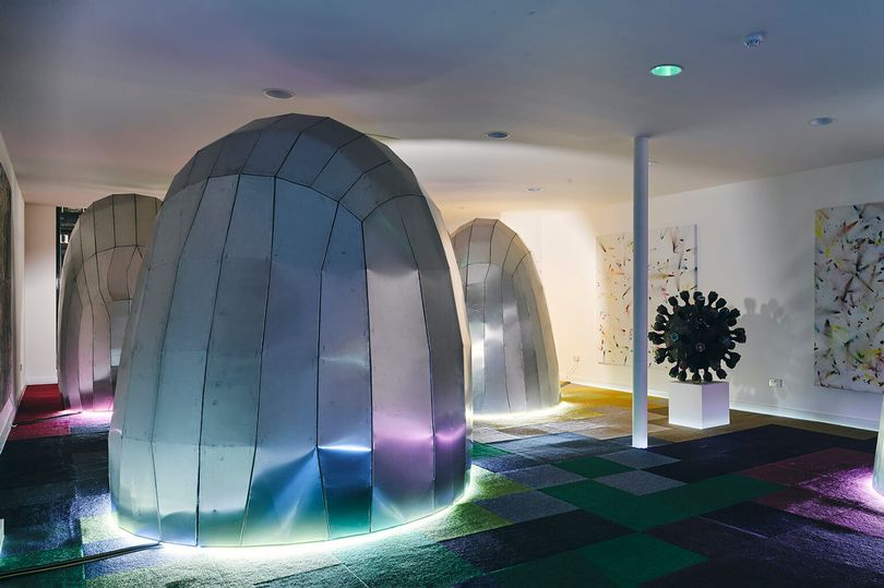 Multisensory spaceship-like dining pods   Manchester Evening News