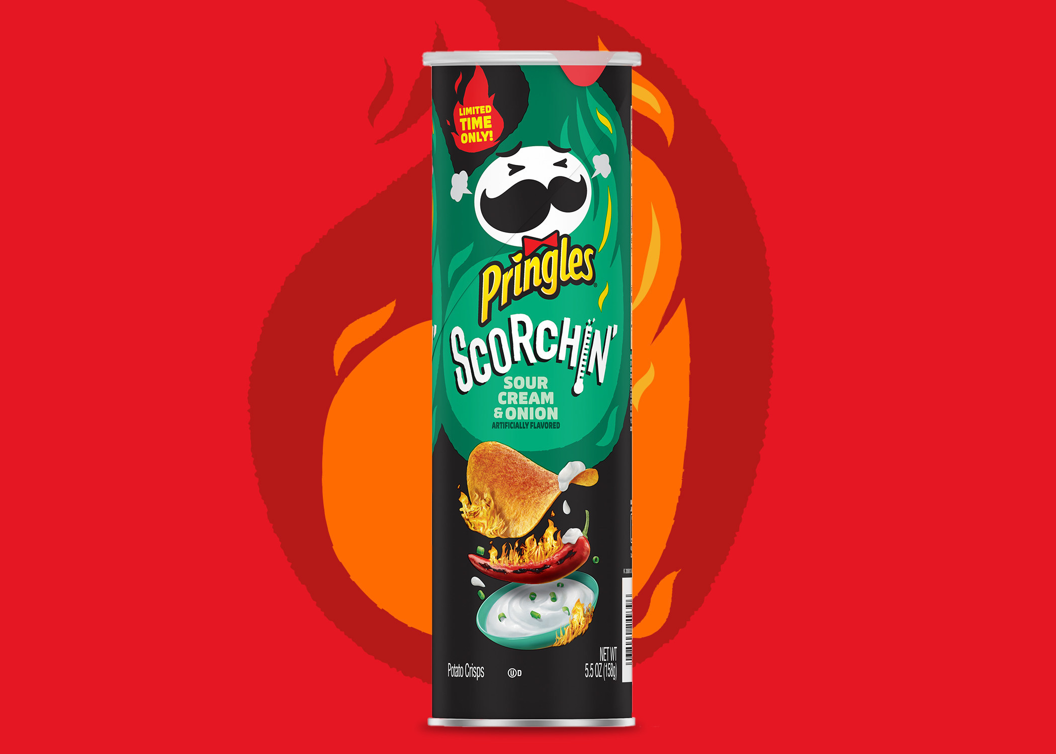 New Pringles® Scorchin' Sour Cream & Onion Satisfies Snackers' Tangy Temptations With A Kick   PR Newswire
