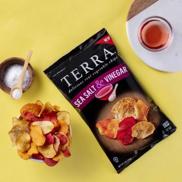 TERRA® Chips Sea Salt & Vinegar (photo courtesy TERRA® Chips)