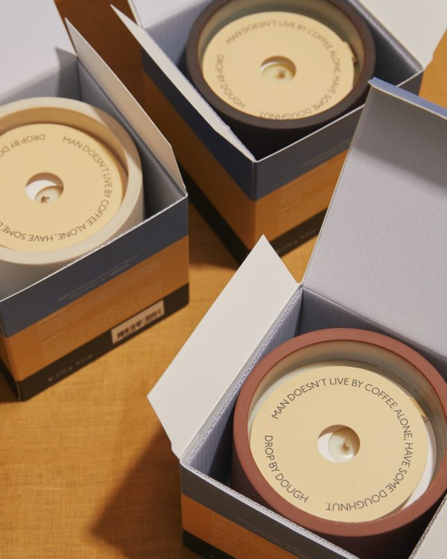 packaging DROP BY DOUGH Candles