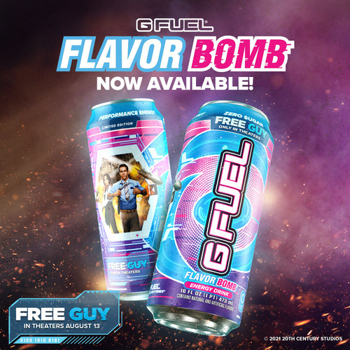 """G FUEL And Disney Drop A """"Flavor Bomb"""" Energy Drink — In Celebration Of The New Movie 'Free Guy' 