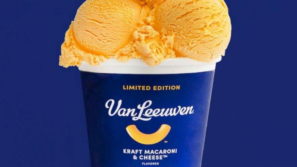 Kraft collaborates with Van Leeuwen to serve macaroni and cheese flavored ice cream | ABC News