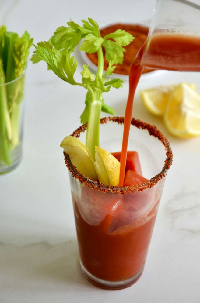 PHOTO: A Tajin rimmed glass with a classic Bloody Mary.